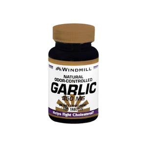 Windmill Garlic 350 mg Tablets Natural Odor-Controlled 100 Tablets