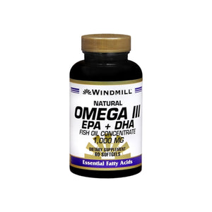 Windmill Omega III EPA + DHA 1,000 mg Softgels 60 Soft Gels