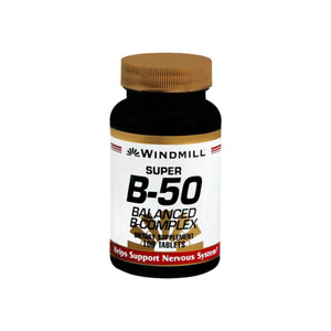 Windmill Super B-50 Balanced Complex Tablets 100 Tablets