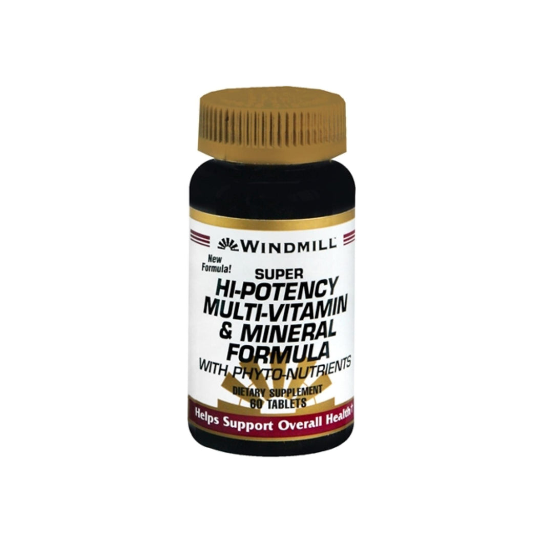 Windmill Super Hi-Potency Multi-Vitamin and Mineral Formula Tablets 60 Tablets