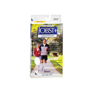 JOBST SupportWear Socks Athletic Knee High 8-15mmHg Medium 1 Pair