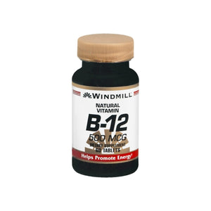 Windmill Vitamin B-12 500 mcg Tablets 60 Tablets