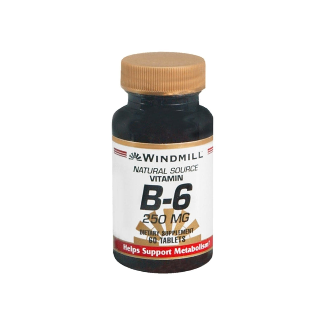 Windmill Vitamin B-6 250 mg Tablets 60 Tablets