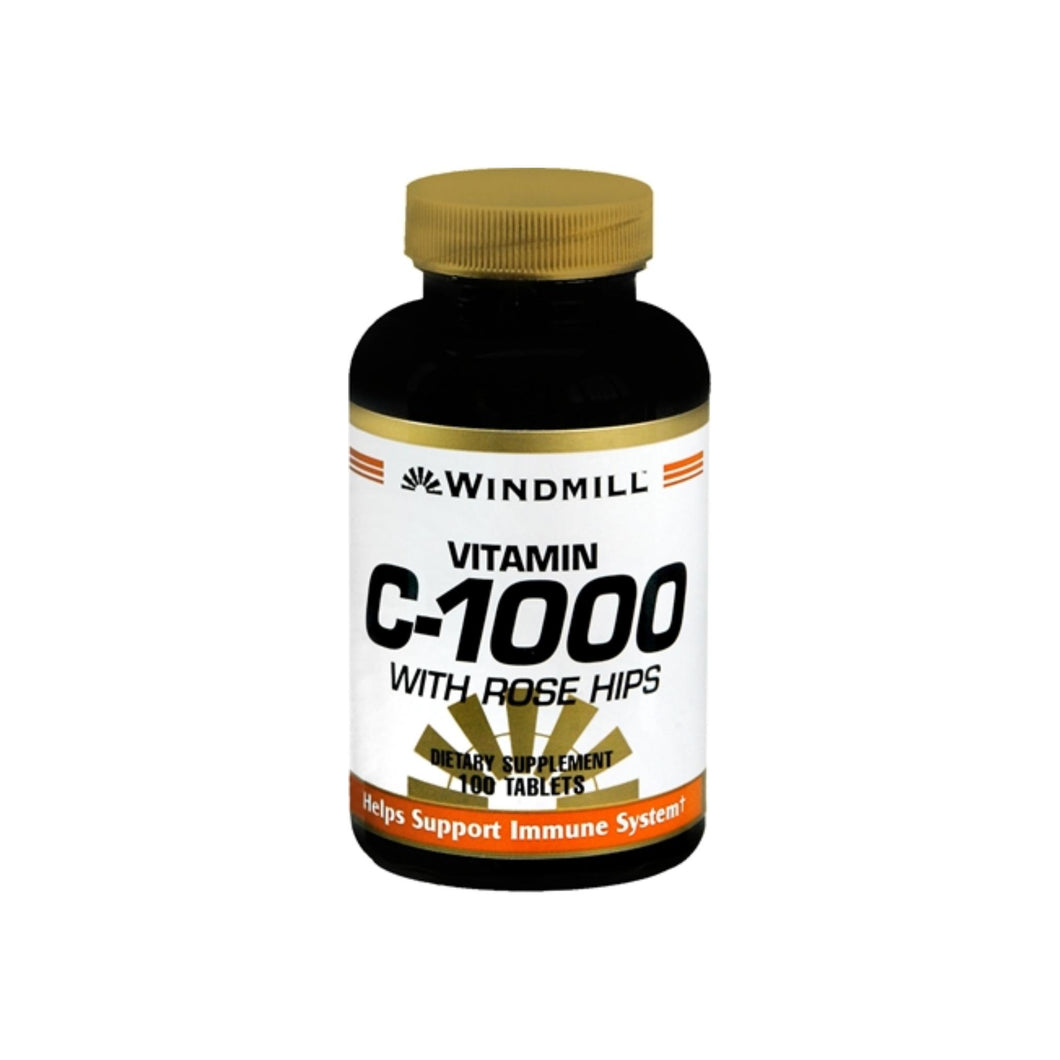 Windmill Vitamin C-1000 Tablets With Rose Hips 100 Tablets