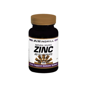 Windmill Zinc 50 mg Tablets Natural Source 100 Tablets