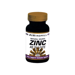 Windmill Zinc 50 mg Tablets Natural Source 90 Tablets