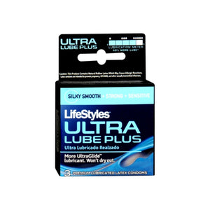 LifeStyles Ultra Lubricated Condoms Latex 3 Each