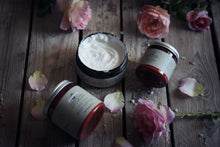 Load image into Gallery viewer, Farmstead Apothecary 100% Natural Body Butter with Organic Safflower Oil, Organic Shea Butter & Organic Vitamin E Oil, Citrus Rose 8 oz