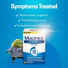 Load image into Gallery viewer, Mucinex 12 Hr Chest Congestion Expectorant, Tablets 68 ea