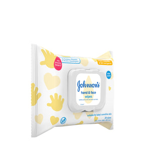 JOHNSON'S Hand & Face Wipes 25 Each