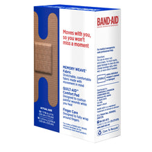 Load image into Gallery viewer, BAND-AID Flexible Fabric Bandages Knuckle & Fingertip 20 Each