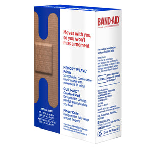 BAND-AID Flexible Fabric Bandages Knuckle & Fingertip 20 Each