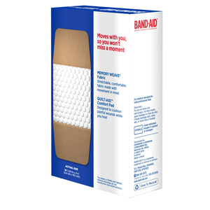 BAND-AID Flexible Fabric Bandages, Extra Large 10 ea