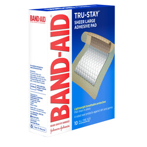BAND-AID Adhesive Pads Comfort-Flex Large 10 Each