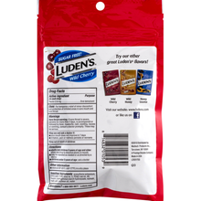 Load image into Gallery viewer, Luden's Sugar Free Throat Drops, Wild Cherry 25 ea