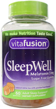 Load image into Gallery viewer, Vitafusion SleepWell Gummies White Tea with Passion Fruit 60 Each
