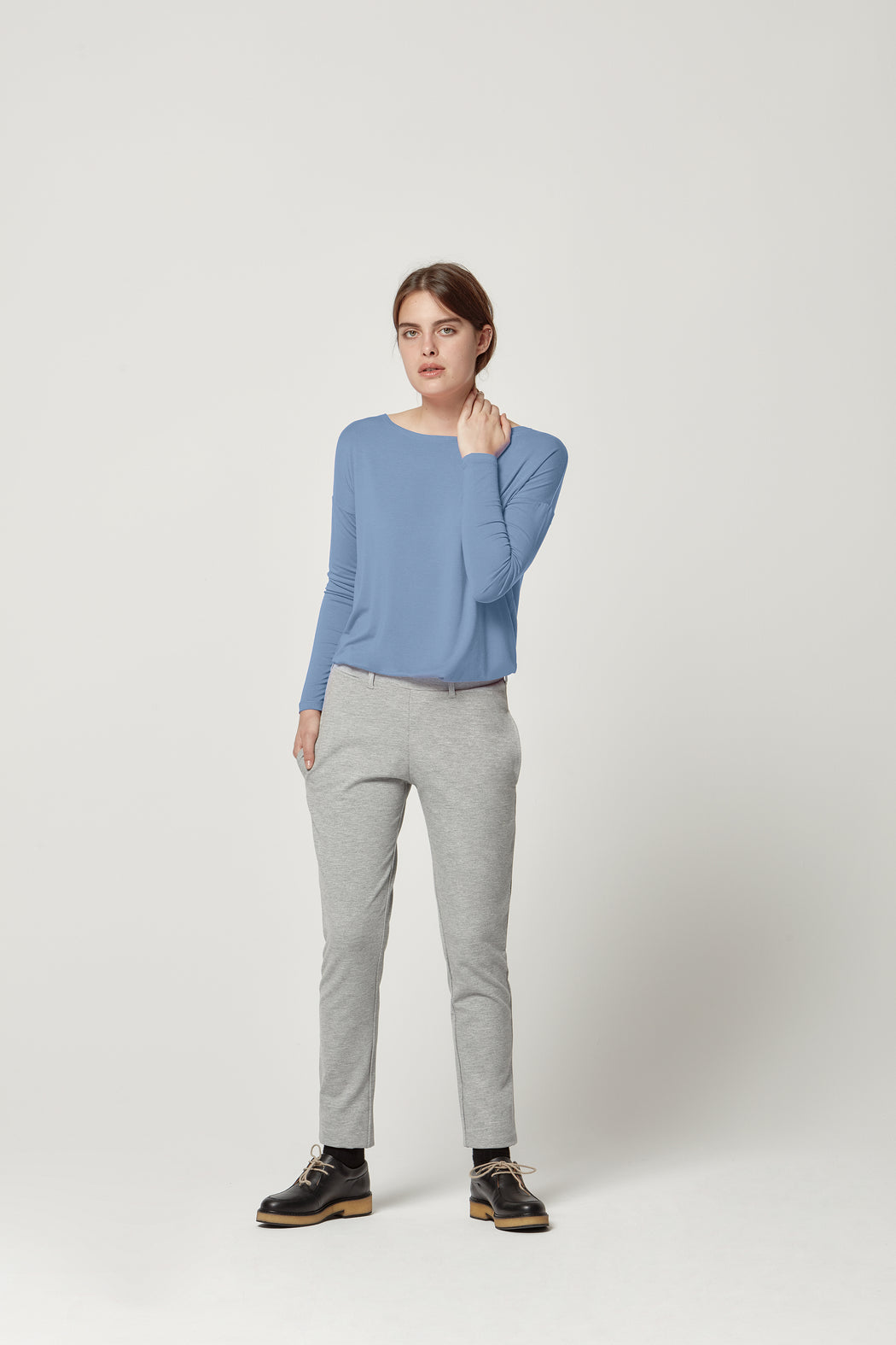 Trousers Justina Light Grey