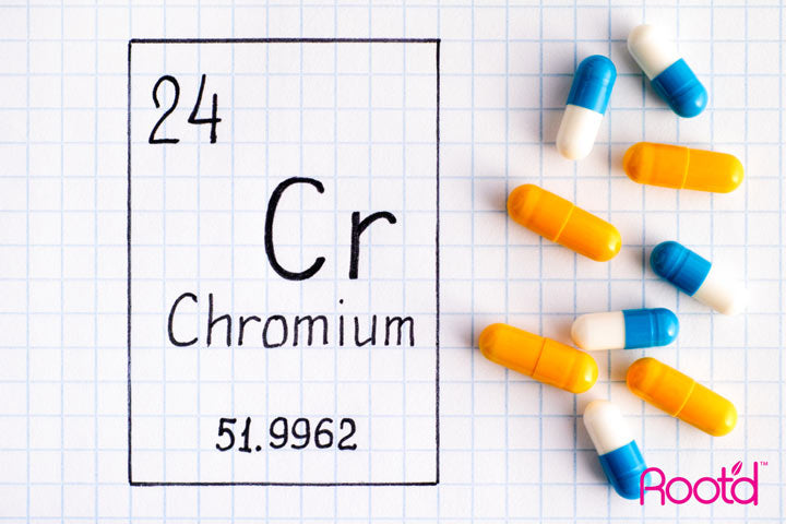 Chromium in Natural Supplement Powder