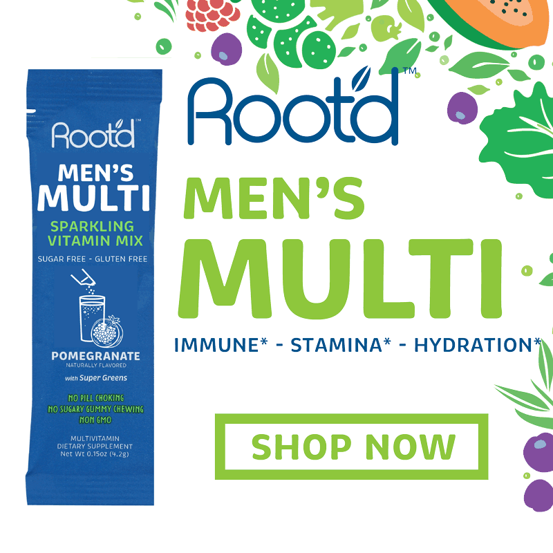 Root'd Men's Fizzy Multivitamin - Pomegranate  24 Pack