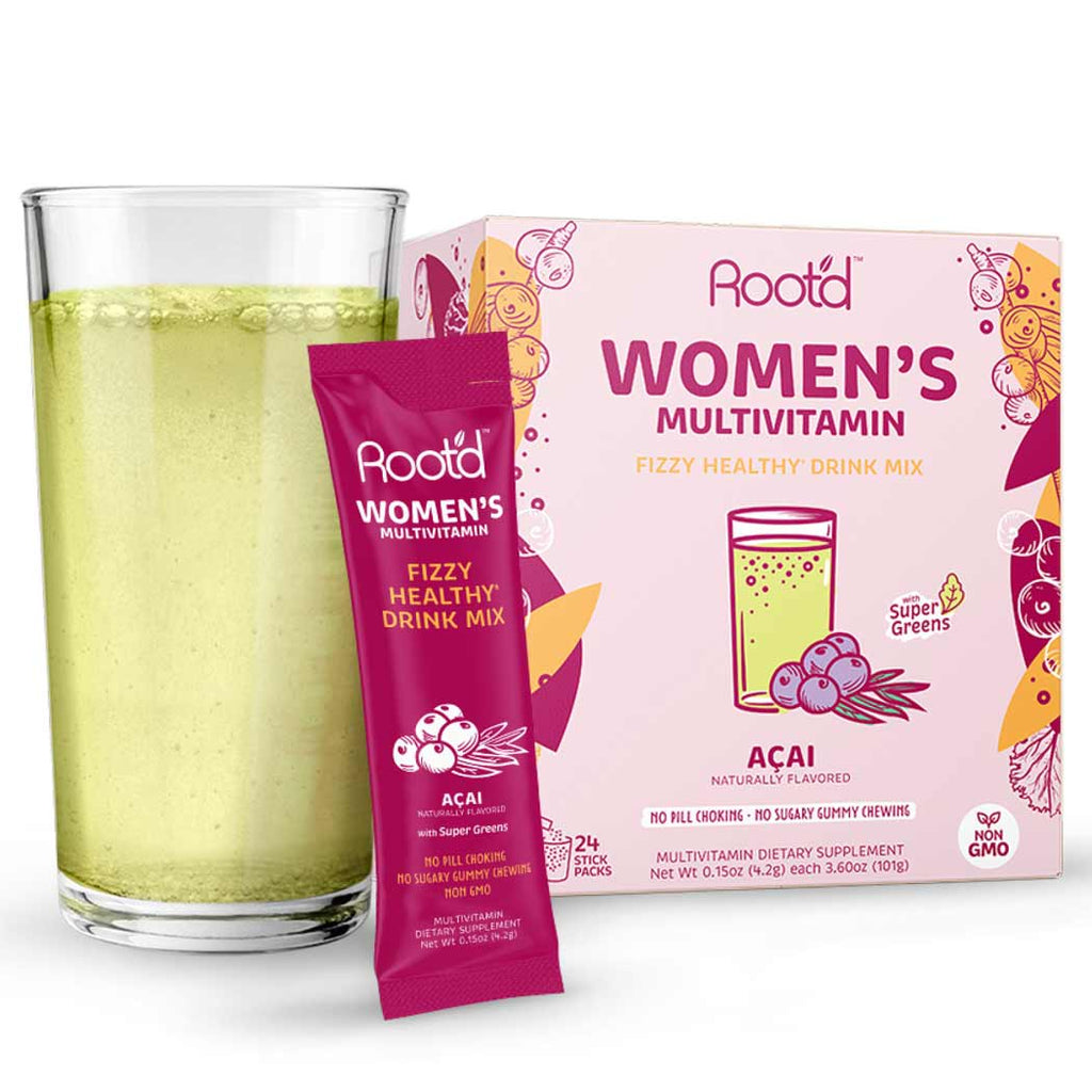 Root'd Women's Fizzy Multivitamin - Acai 24 Pack