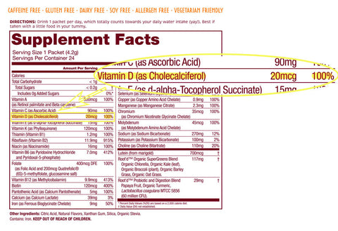Vitamin D3 Supplements - Root'd