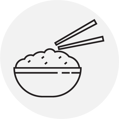 Root'd Best Sources of Vitamin B3 Naciain Rice Icon