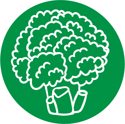 Root'd Best Sources of Vitamin K Broccoli Icon