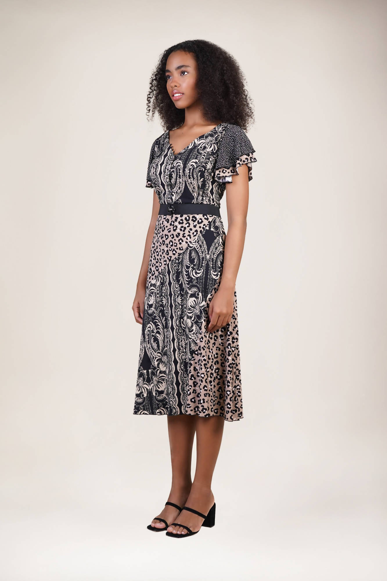 Drayton Dress in Feline Pride