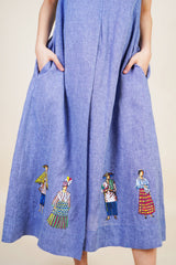 Tipos Del Pais Dress in Blue