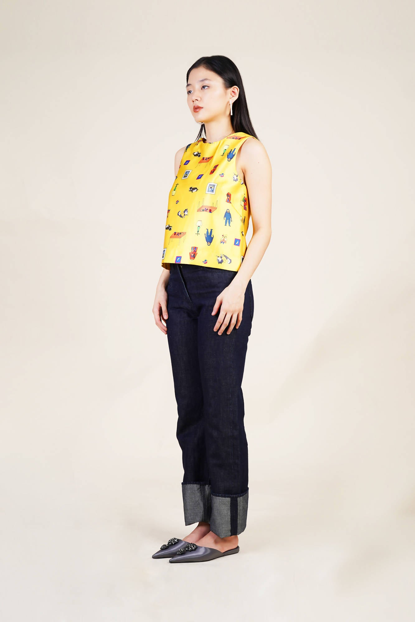 Millo Top in Yellow