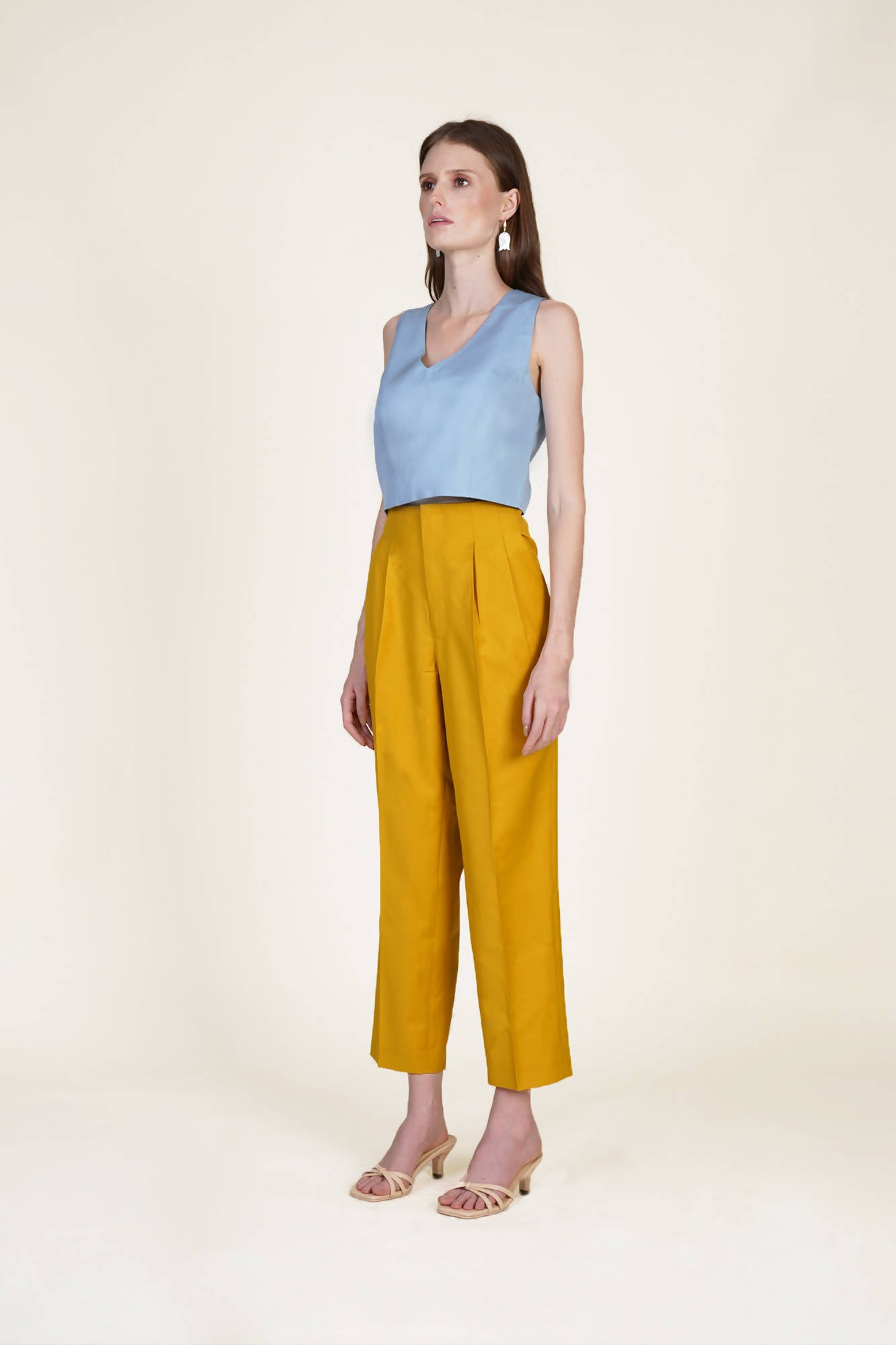 Summer Suit Pants in Mustard