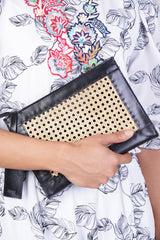 Sia Clutch Sling in Black