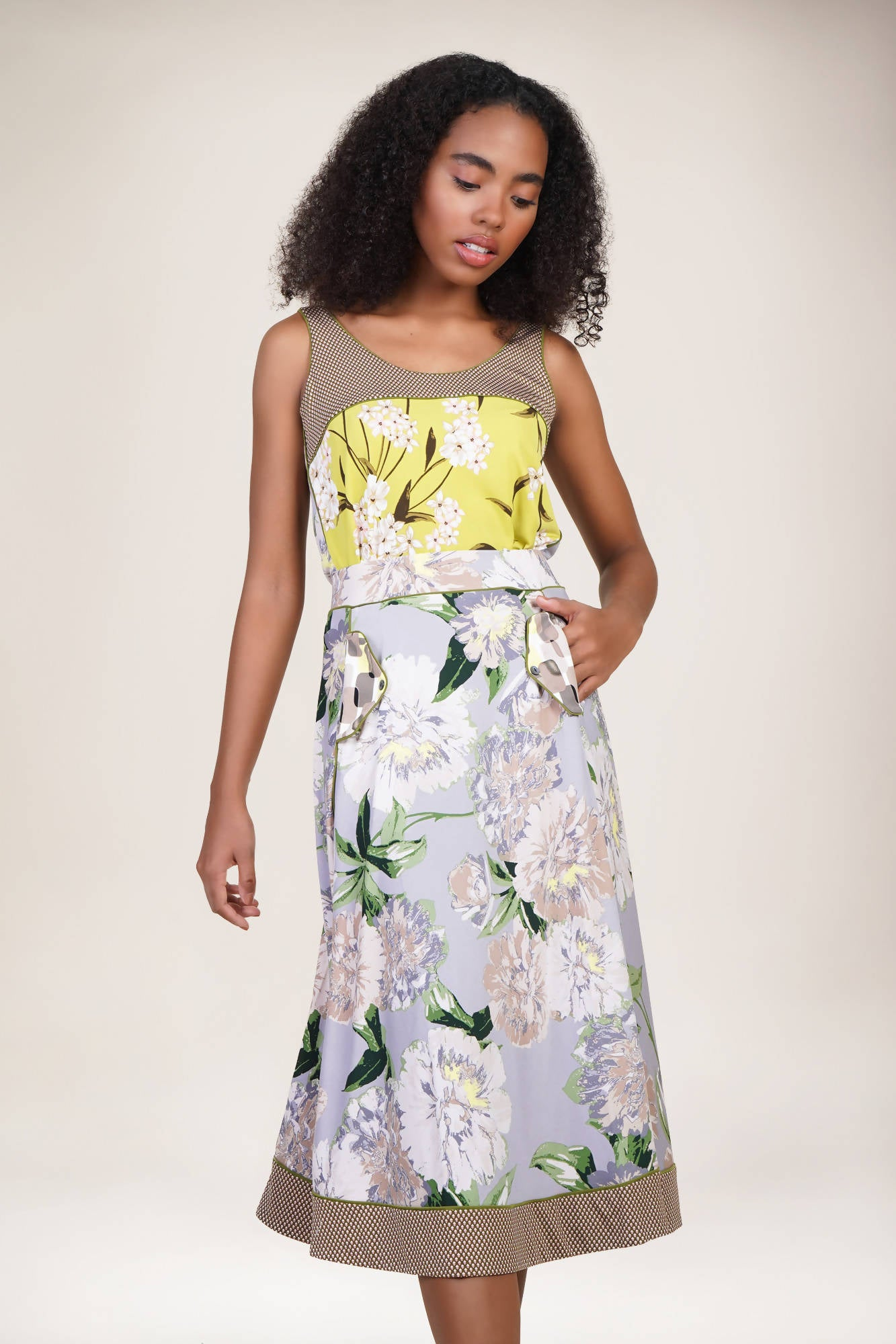 Westlock Skirt in Floral Army Combi