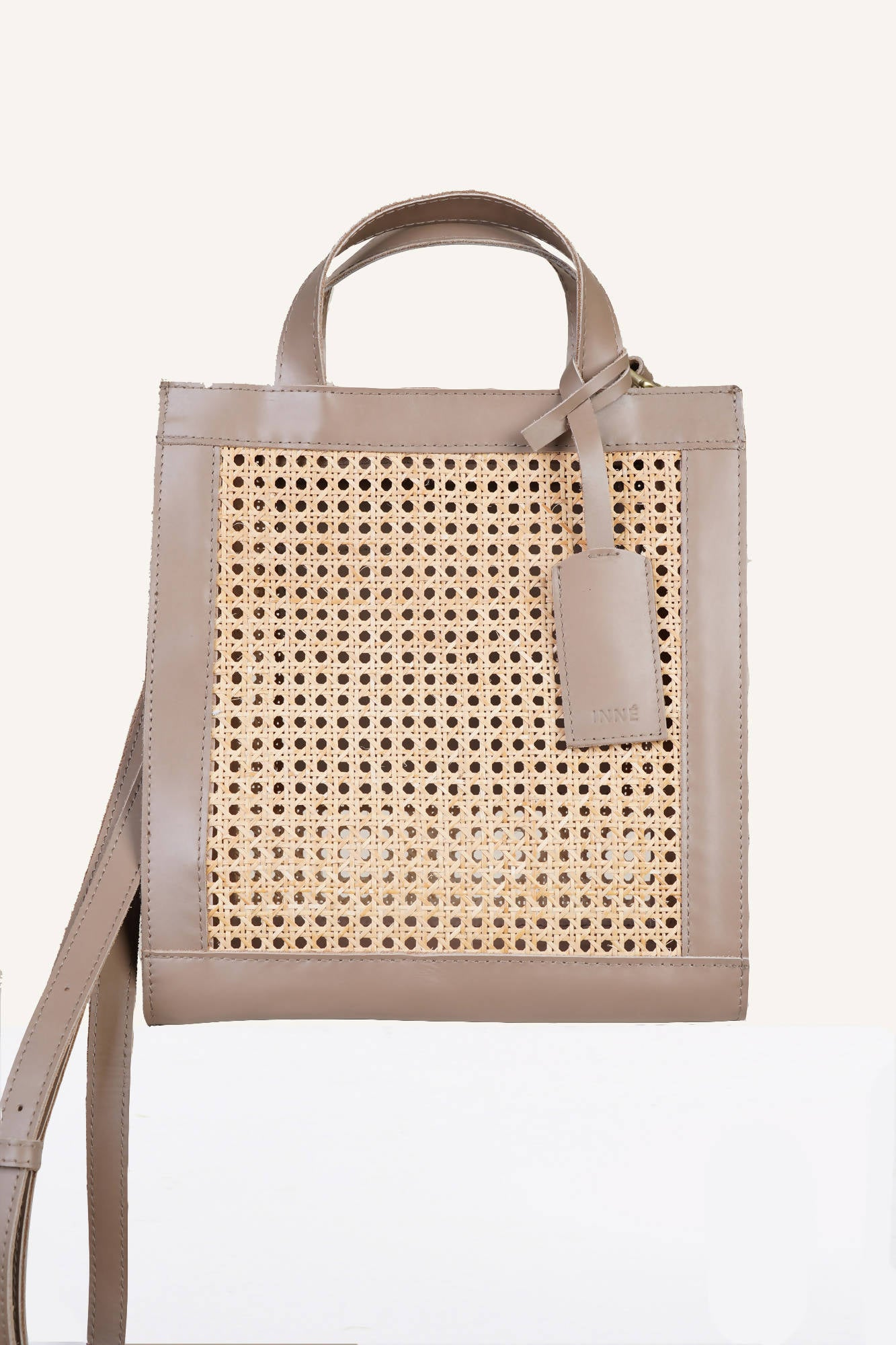 Sia Two-Way Tote in Taupe