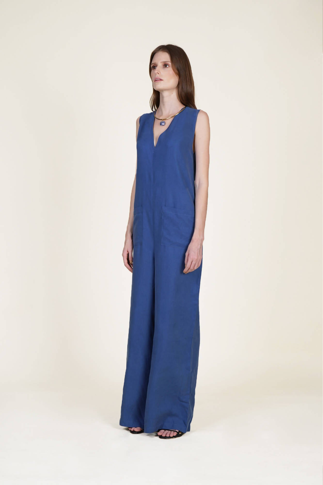 Fits All Jumpsuit in Blue