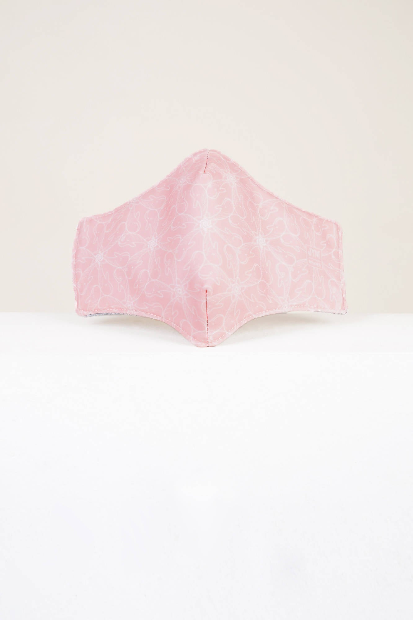 Blush and Sage Whale of a Time Reversible Mask