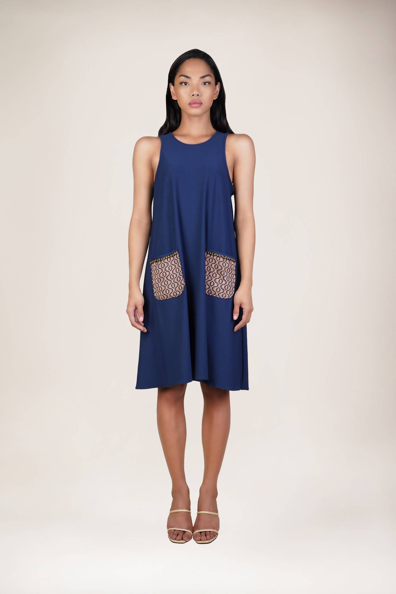 Diwata Sleeveless Dress in Blue