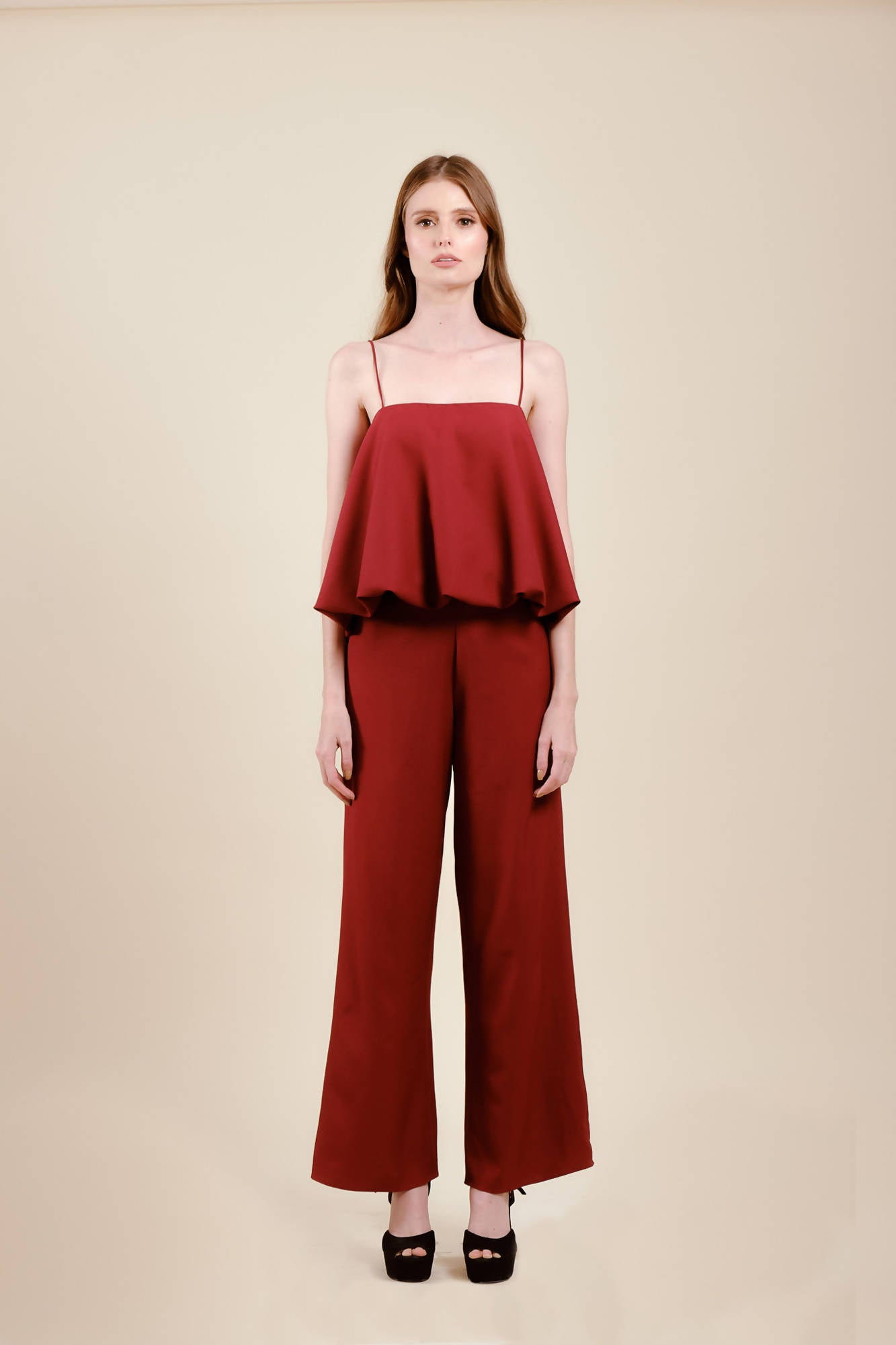 Rorie Pants in Maroon