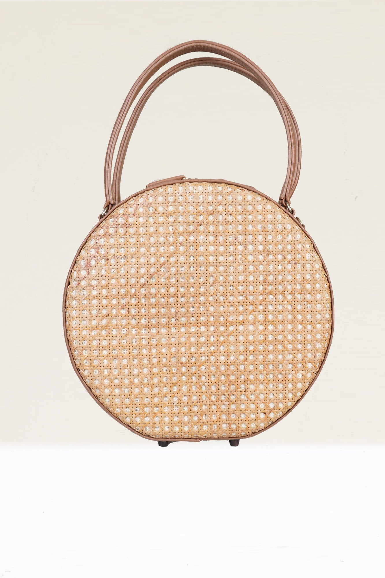 Teresa Round Tote in Nude/Natural