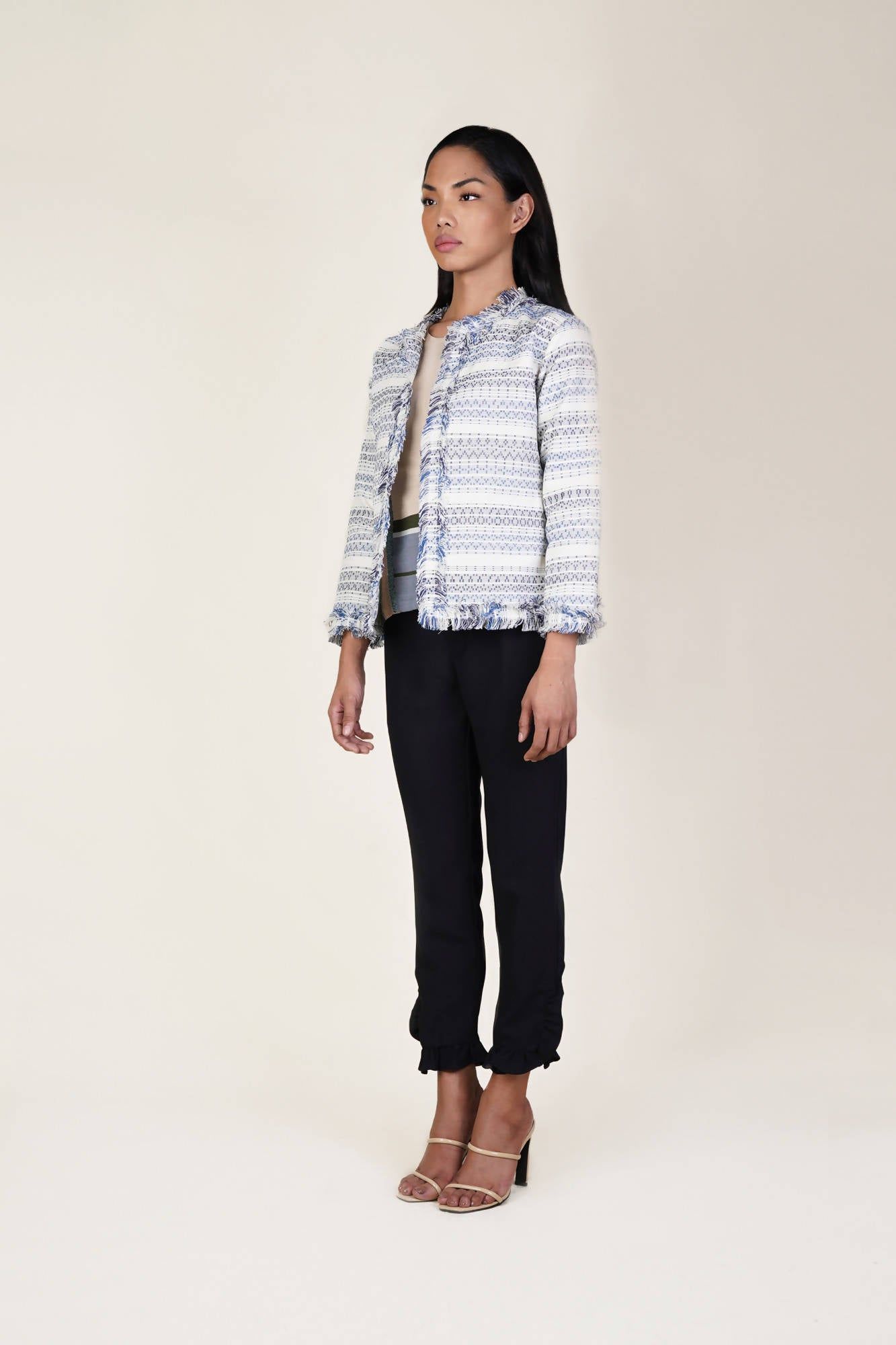 Dayang Jacket in Royal and Navy Blue