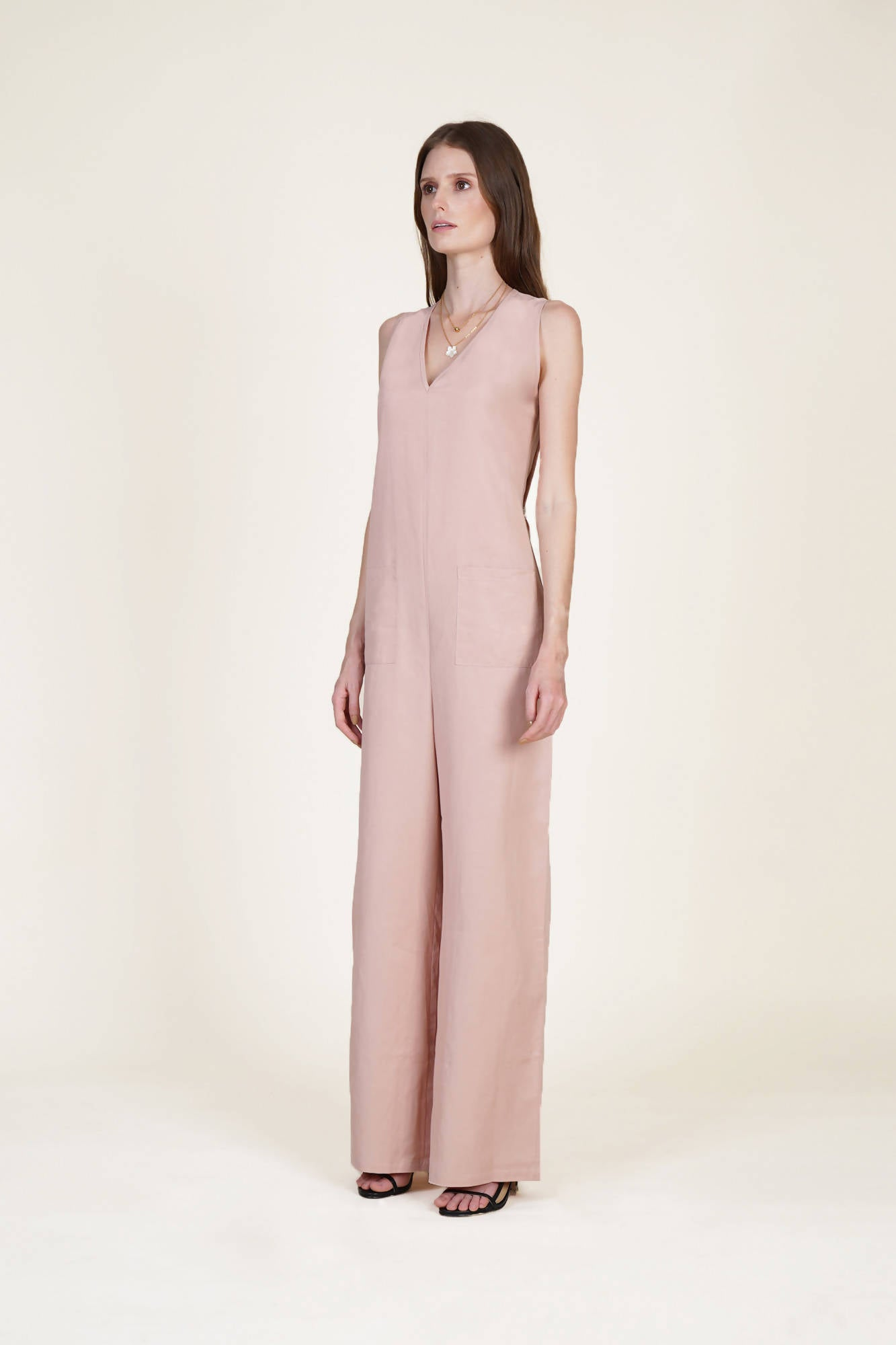 Fits All Jumpsuit in Blush