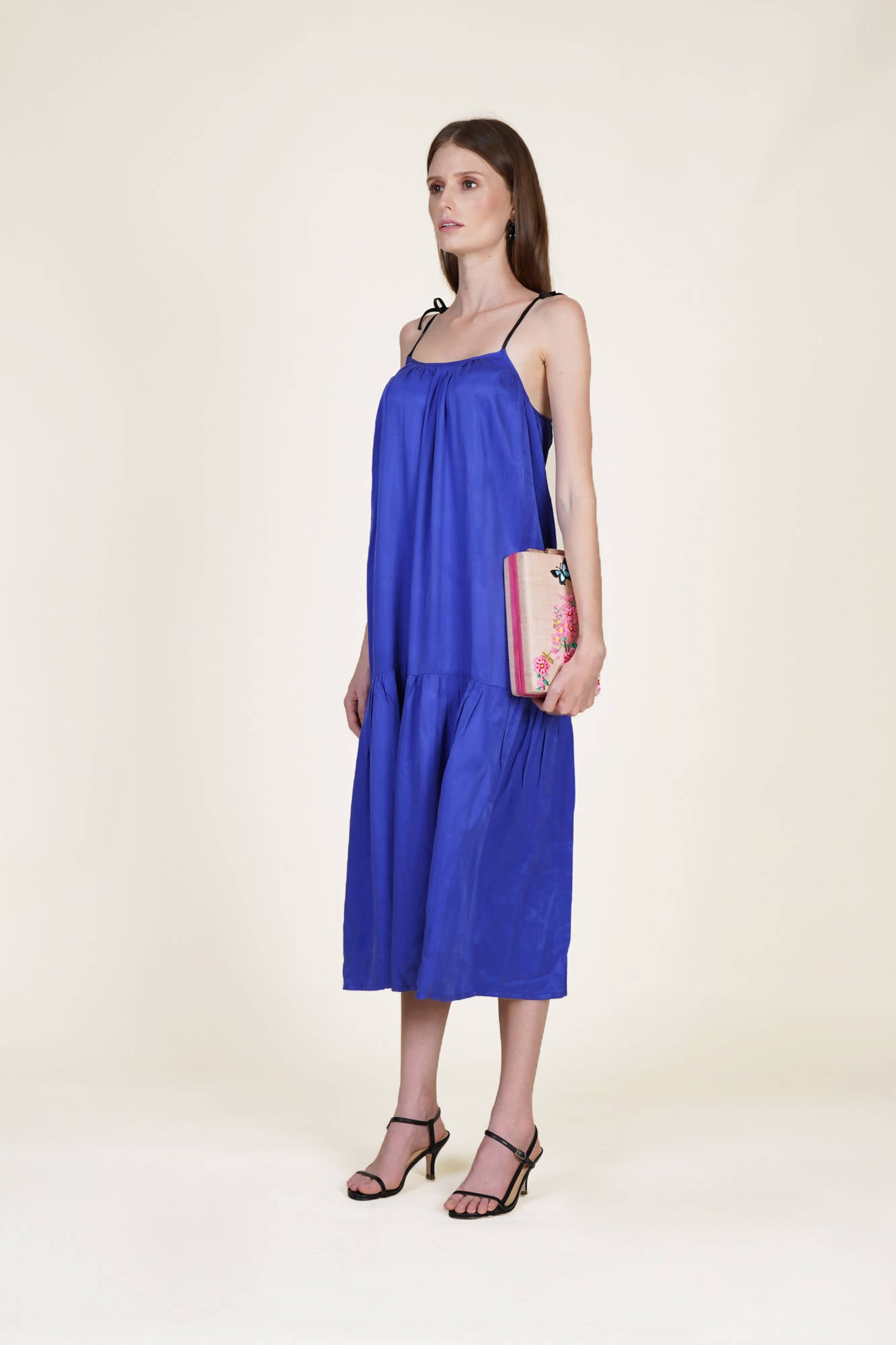 No Fuss Day Dress in Blue