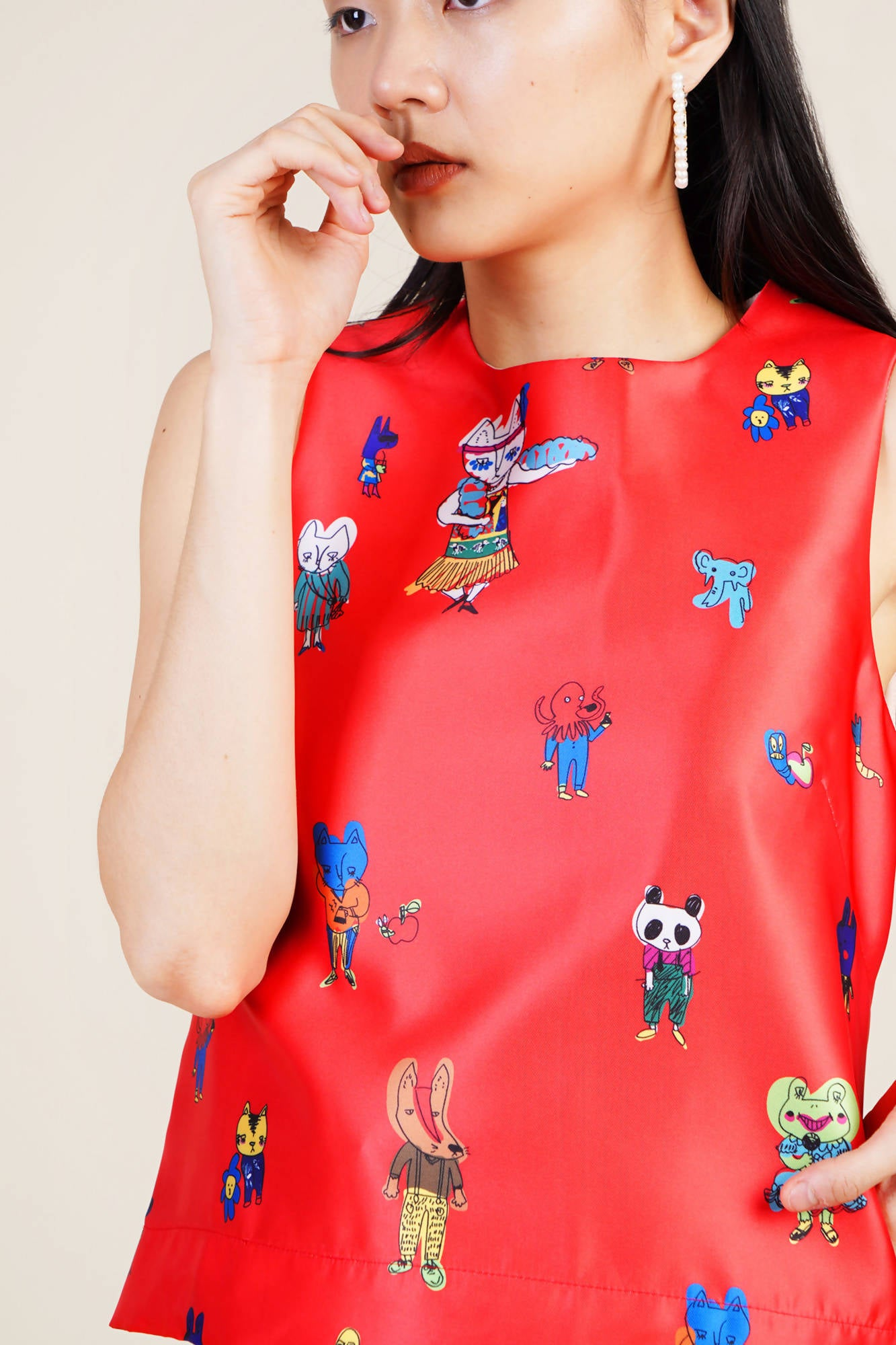 Millo Top in Red
