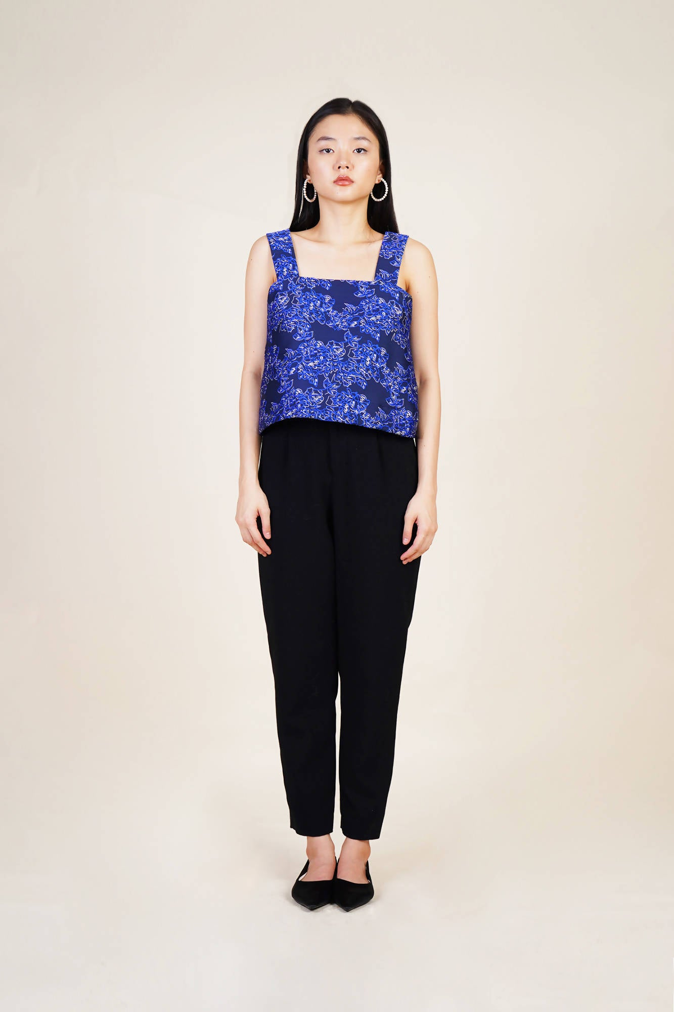 Fellini Top in Blue