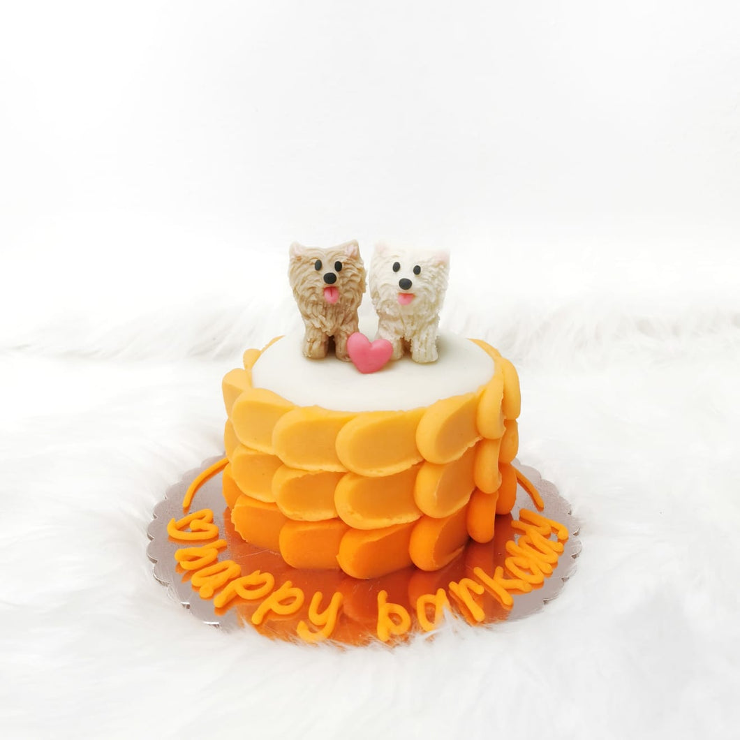 Ombre Barkday Cake