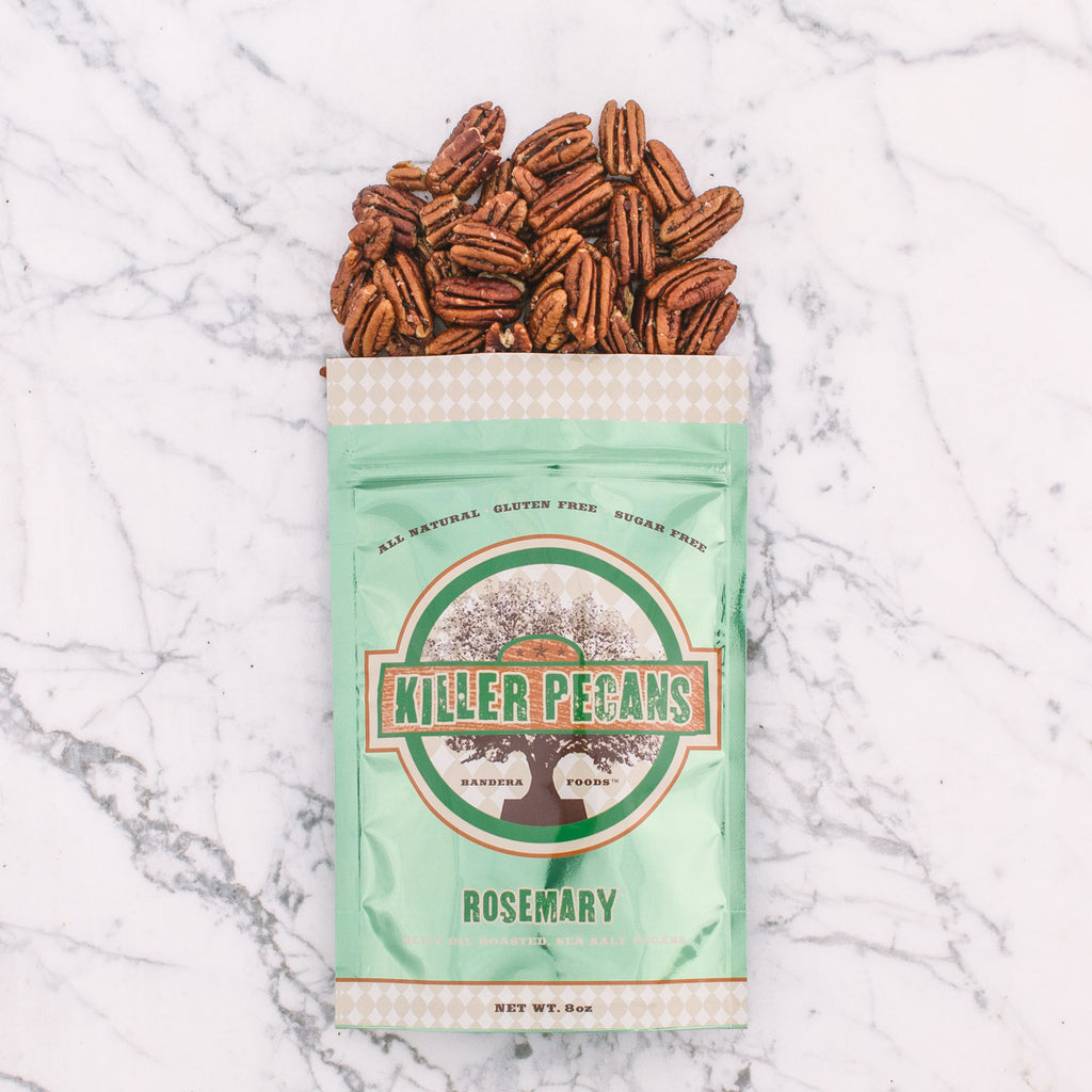 Olive Oil Roasted Rosemary Pecans 8 oz Bag