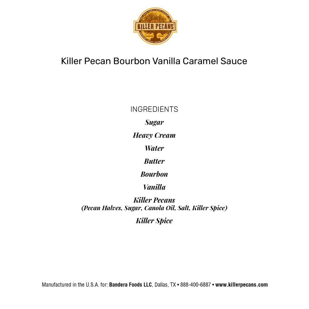 Killer Pecan Caramel  Sauce Duo 7 oz jars