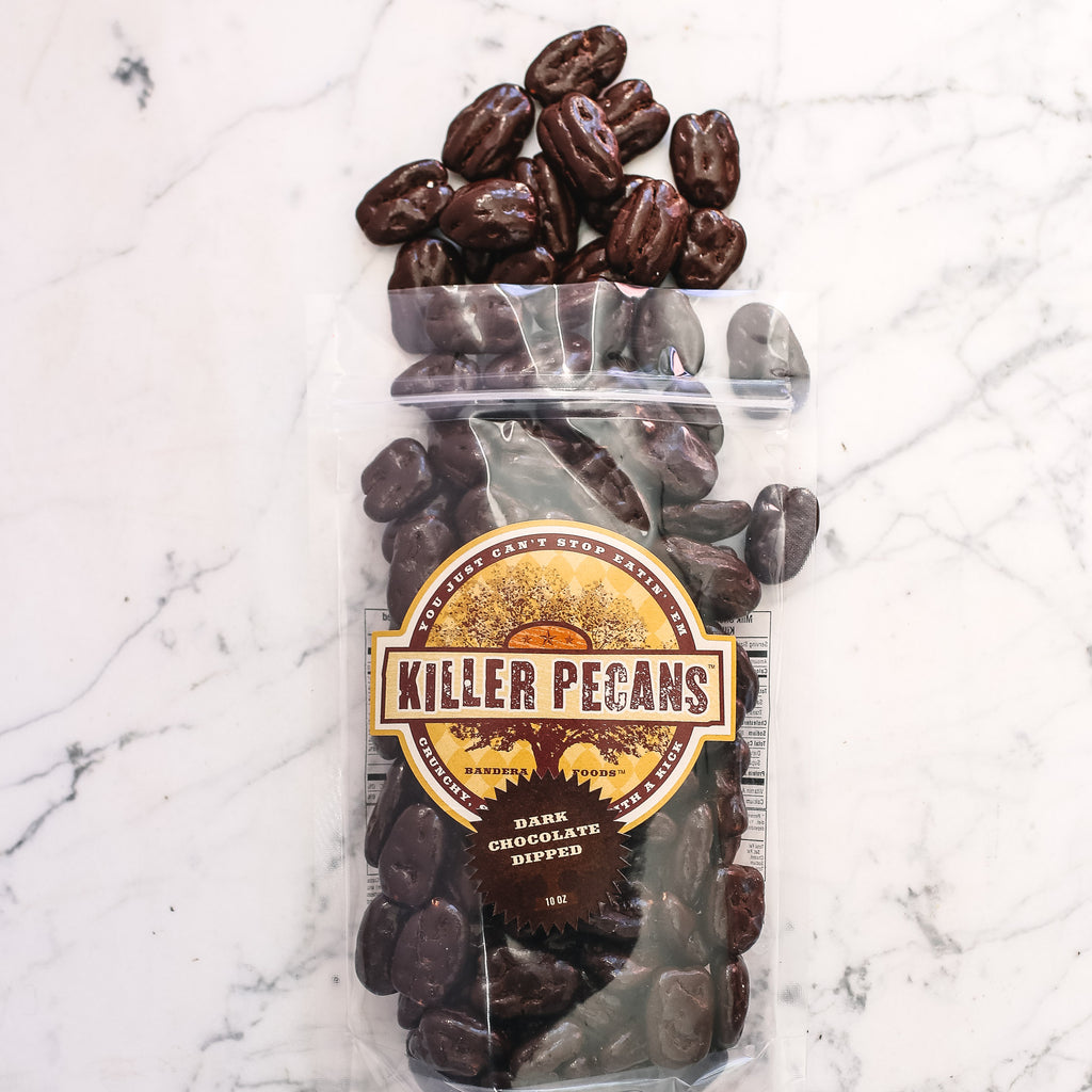 Dark Chocolate Killer Pecans 10 oz bag
