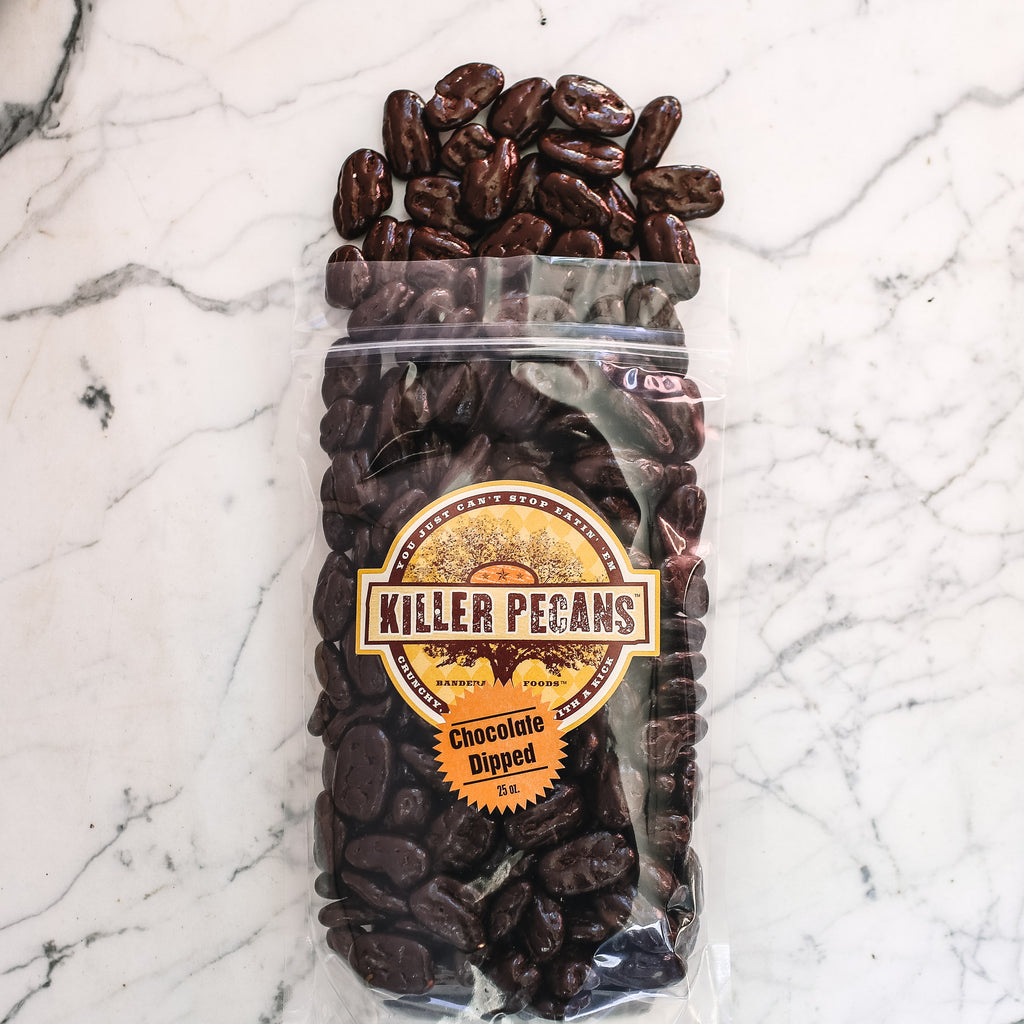 Dark Chocolate Killer Pecans 25 oz bag