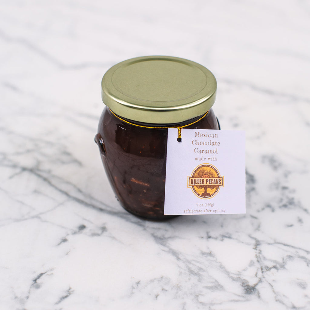 Killer Pecan Mexican Chocolate Caramel Sauce 7 oz jar